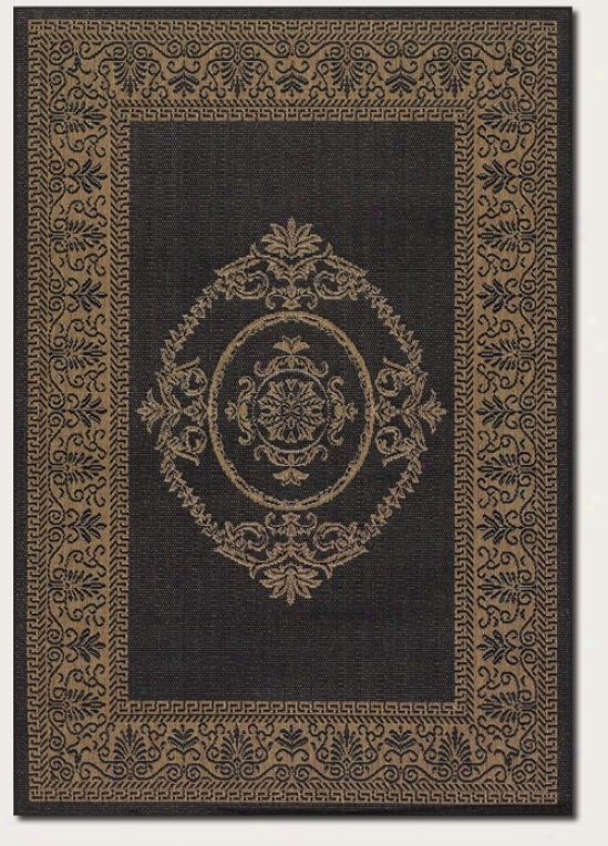 2'3&quot X 7'10&quot Runner Area Rug Medallion Design In Black And Cocoa