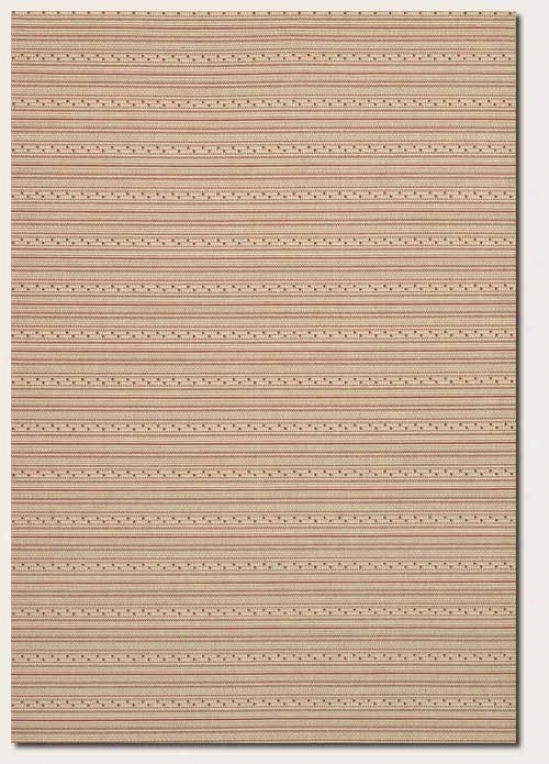 2'3&quot X 7'10&quot Runner Area Rug Striped Paytern In Cream And Red
