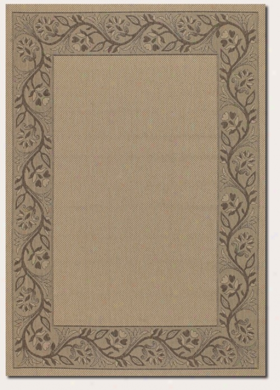 2'3&quot X 7'10&quot Messenger Area Rug Attending Floral Border In Cream And Brown