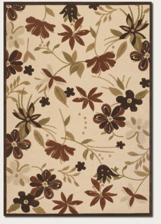 2'4&quot X 11'9&quot Runner Area Rug Contemporary Floral Pattern In Sand Color