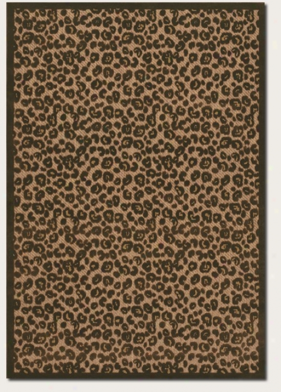 2'4&quot X 11'9&quot Runner Area Rug Leopard Pattern In Tan And Brown