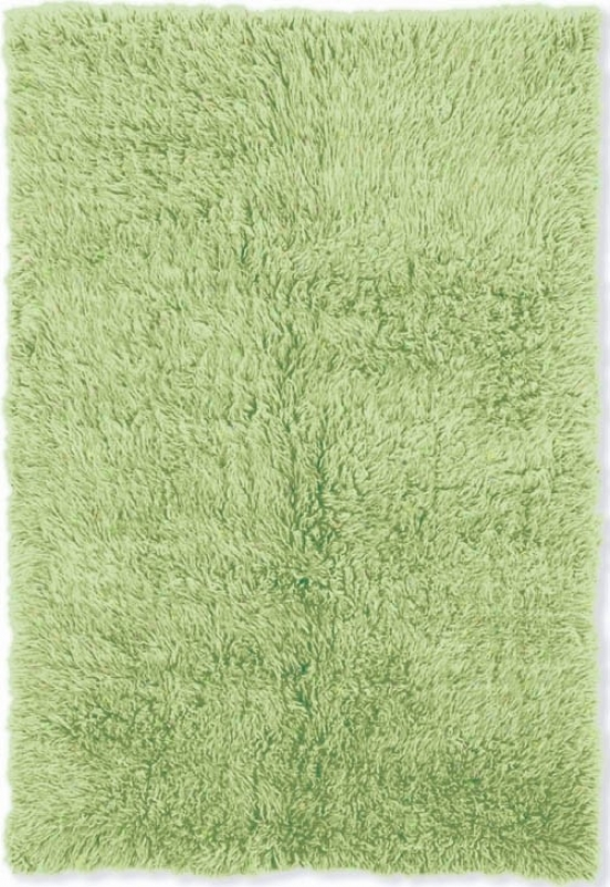 2'4&quot X 4'3&quot Hand Woven Flokati Rug In Lime Green Color