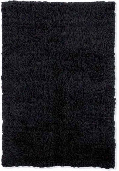 2'4&quot X 8'6&quot New Flokati Rubner Area Rug - 100% Wool Black Color