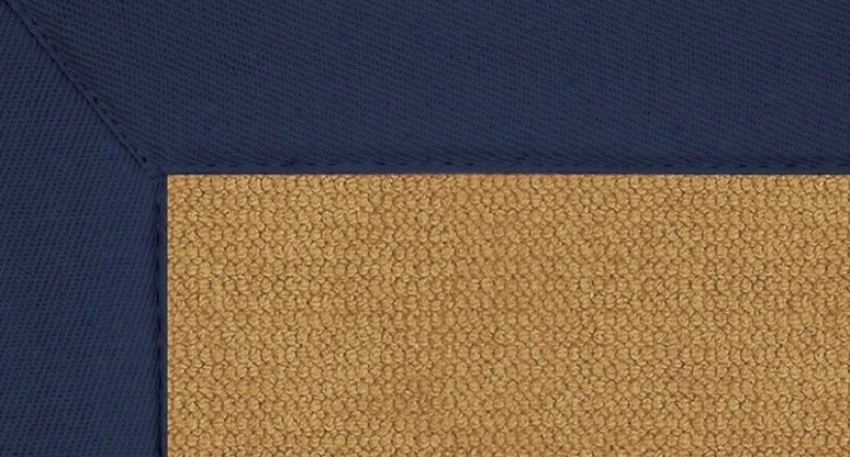2'6&quot X 12' Cork Wool Runner Area Rug - Atjena Hand Tufted Rug With Blue Border