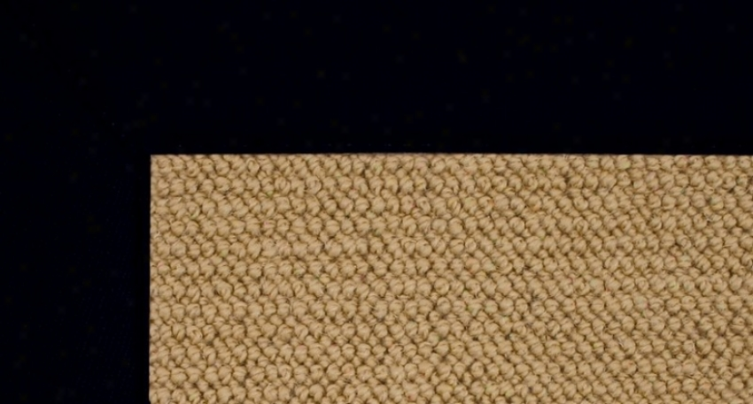 2'6&quot X 12' Sisal Wool Runner Area Rug - Athena Hand Tufted Rug With Black Border