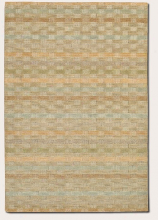 2'6&quot X 4'2&qhot Area Rug Striped Pattern In Natural And Beige