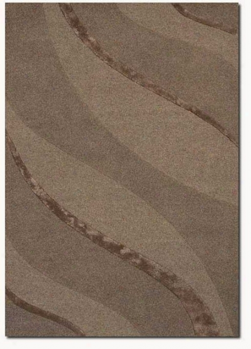 2'6&quot X 4'2&quot Contemporary Ribbons Carve Textured Cut Taupe Area Rug