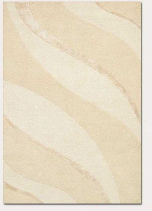 2'6&quot X 4'2&quot Contemporary Ribbons Carve Textured Cut Ivory Area Rug