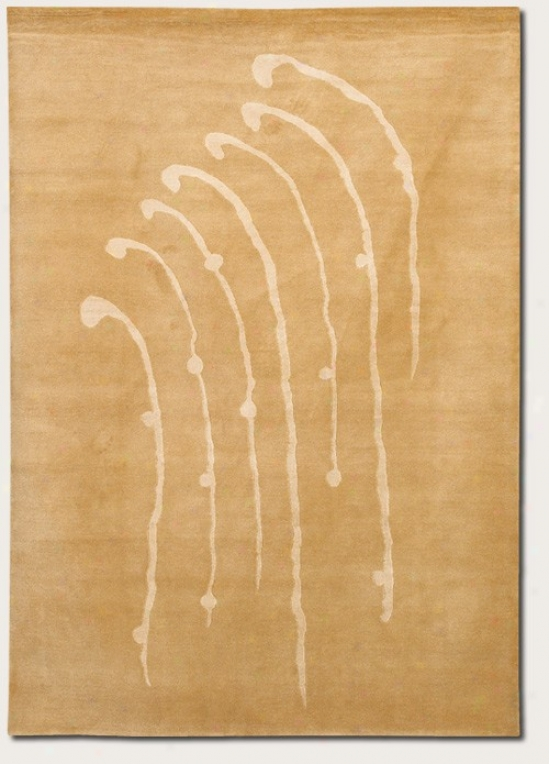 2'6&quot X 4'6&quot Area Rug Contemporary Style In Golden Wheatfield
