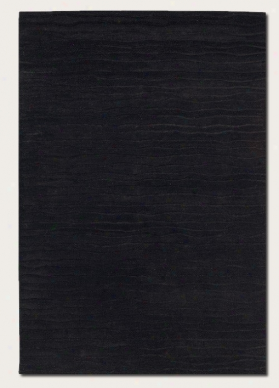 2'6&quot X 4'6&quot Area Rug Hand Crafted Contemporary Style In Ebony