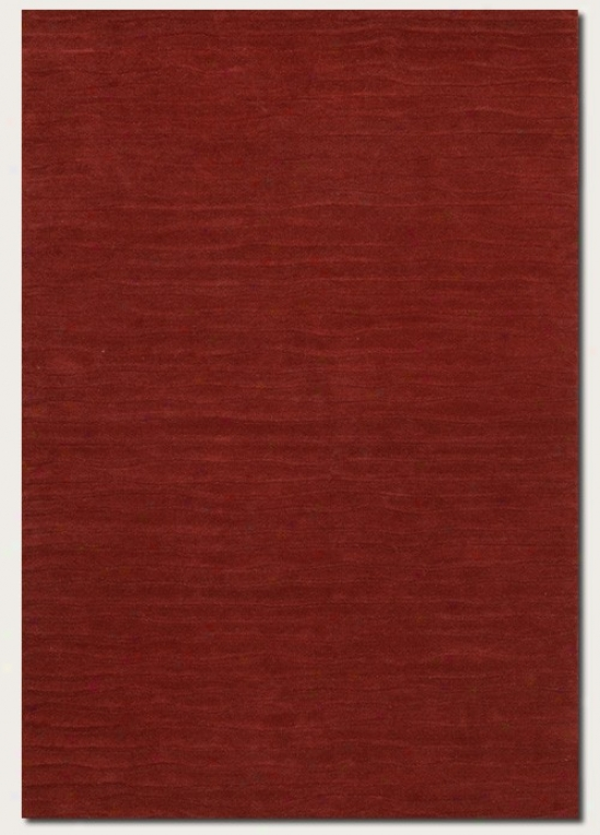 2'6&quot X 4'6&quot Area Rug Hand Crafted Contemporary Gnomon  In Wine