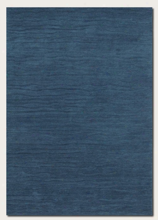 2'6&quot X 4'6&quot Area Rug Hand Crafted Contemporary Style In Blue Jay
