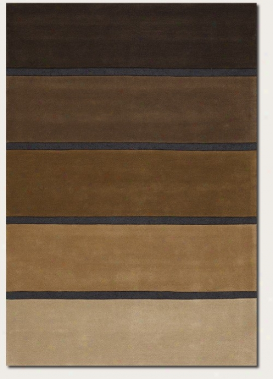2'6&quot X 4'6&quot Area Rug Hand Crafted Striped Design In Neutrals