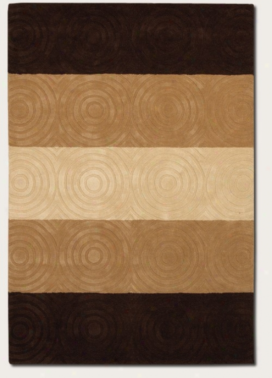 2'6&quot X 4'6&quot Area Ruh Handmade Striped Design In Beige And Brown