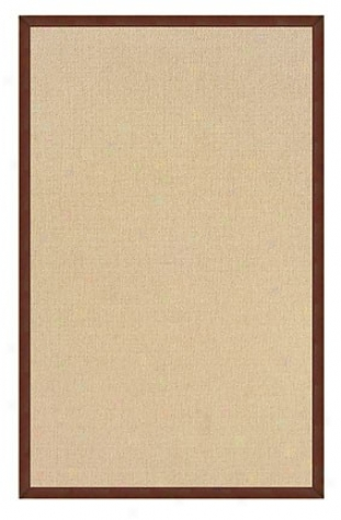 2'6&quot X 8' Hand Tufted Runner Area Rug In Natural With Brown Border