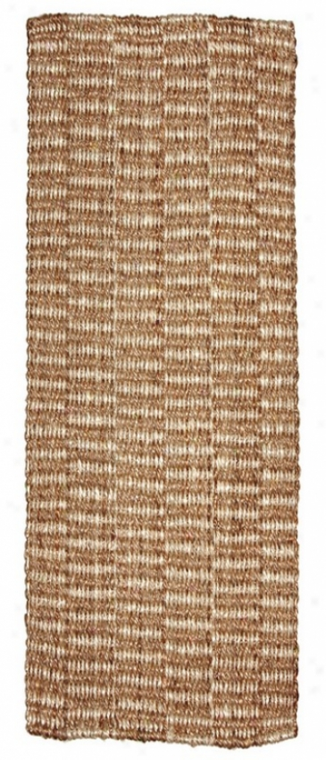 2'6&quot X 8' R8nner Area Rug With Tight Weave Jute In Beige Finish