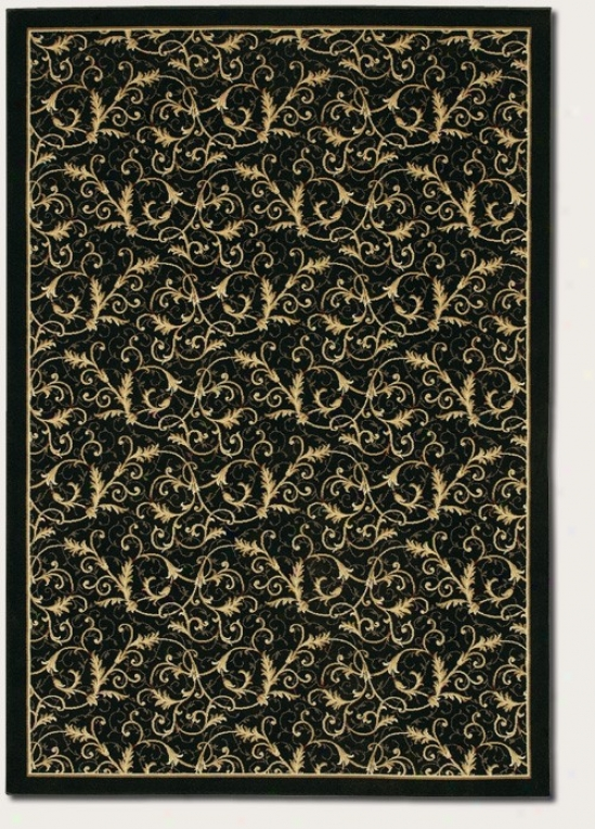 2'7&quot X 7'10&quot Runner Area Rug Gold Volute Fern Design In Wicked Coolor