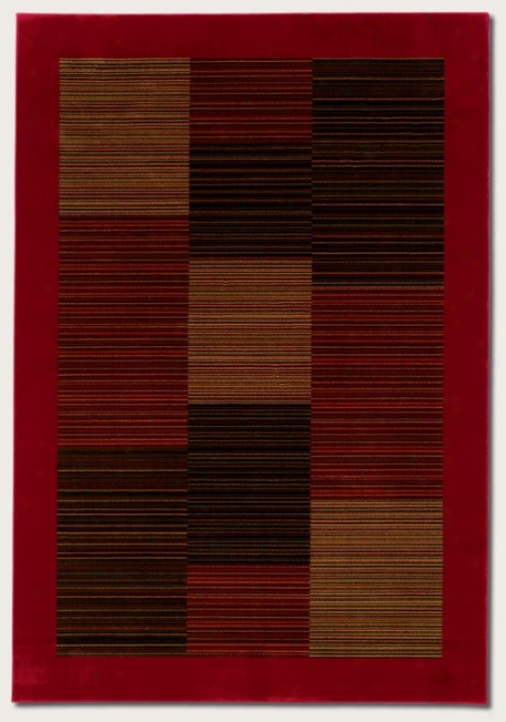 2'7&quot X 7'10&quot Runner Area Rug S1ender Stripe Figure With Red Limit