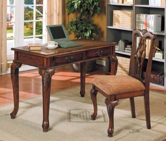 2pc Home fOfice Writing Desk & Side Chair Set