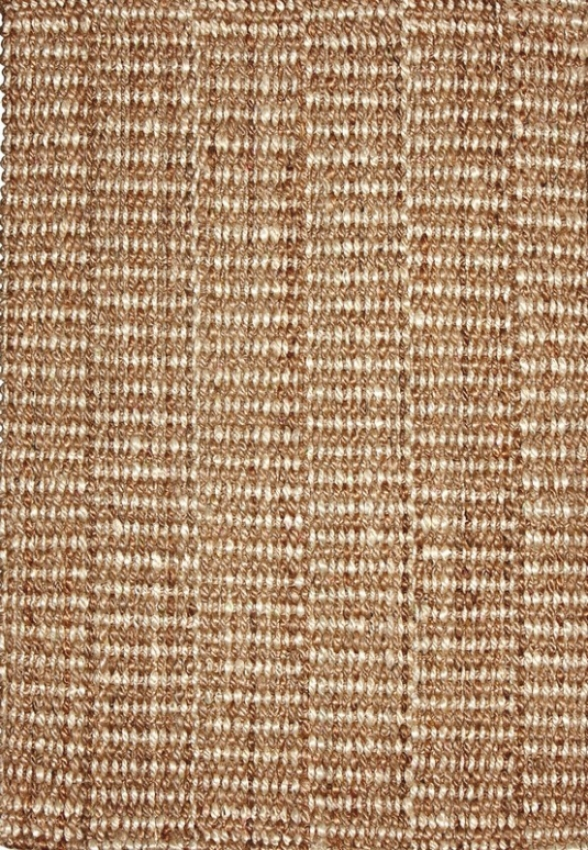 3' X 5' Area Rug With Tight Weave Jute In Beige Finish