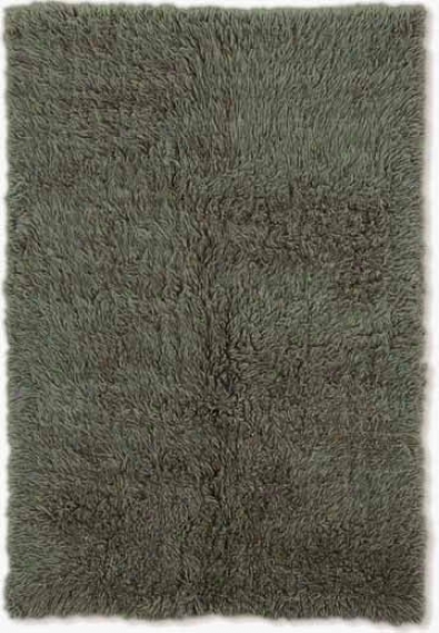3' X 5' Flokati Area Rug - 100% Wool Olive Color