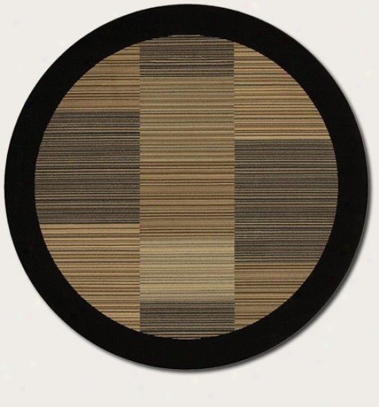 3'11&quot Round Area R8g Slender Strip ePattern With Black Border