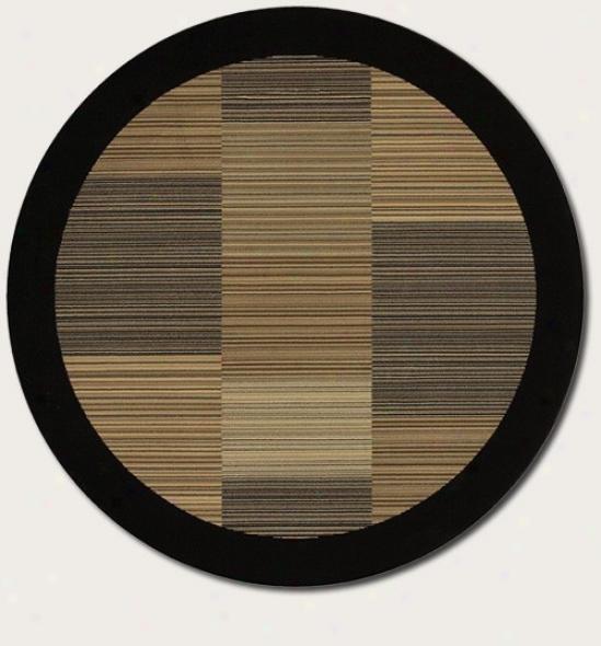 3'11&quot Round Area R8g Slender Strip ePattern With Black Border