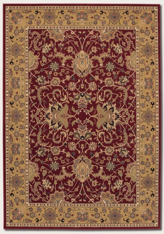 3'11&quot X 5'3&quot Area Rug Classic Persian Pa5tern In Persian Red