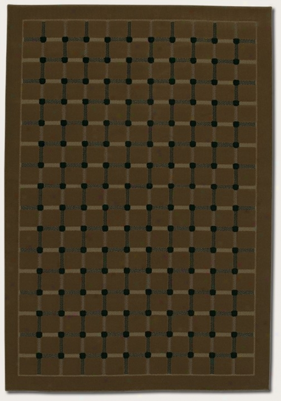 3'11&quot X 5'3&quot Area Rug Grid Pattern In Coffee Color
