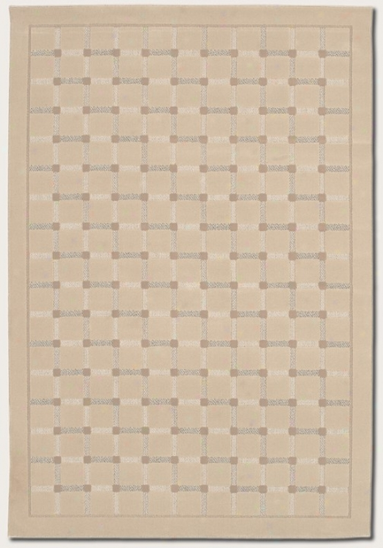 3'11&quot X 5'3&quot Area Rug Grid Pattern In Sand Color