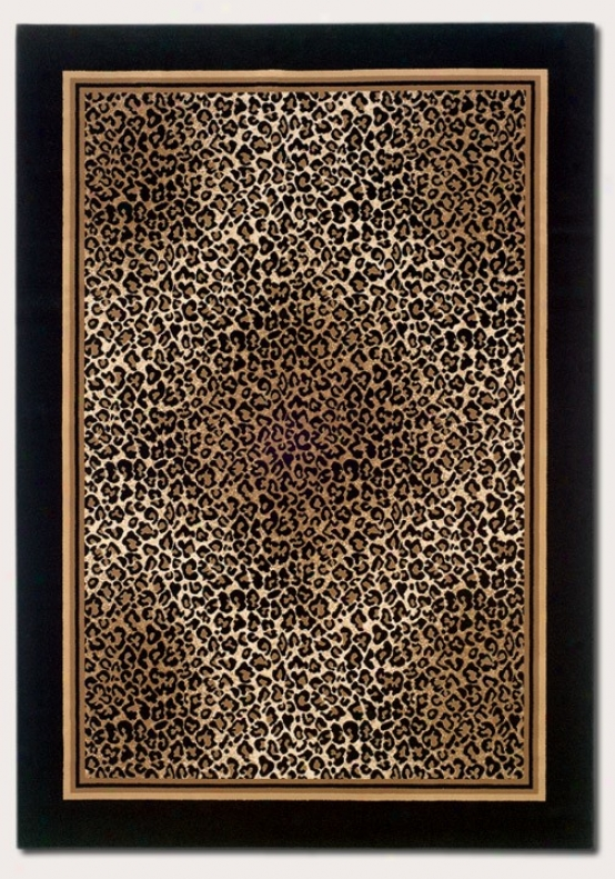 3'11&quot X 5'3&quot Area Rug Leopard Print With Murky Border