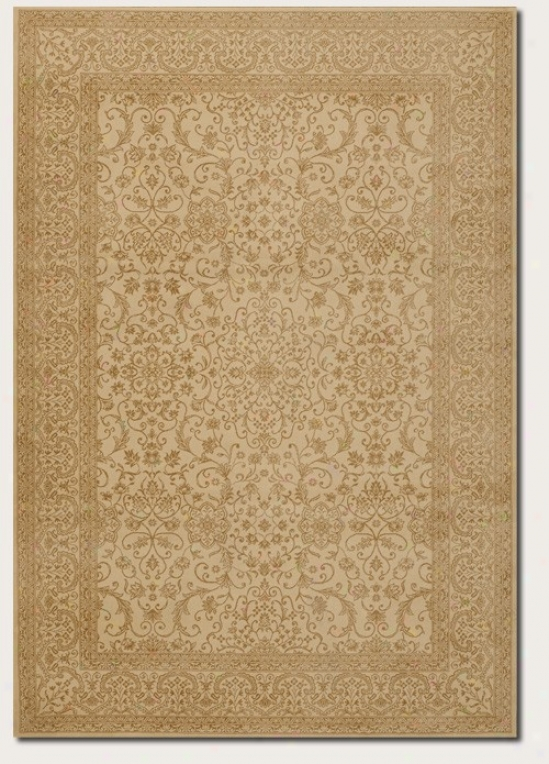 3'11&quot X 5'3&quot Area Rug Persian Floral Pattern In Ivory