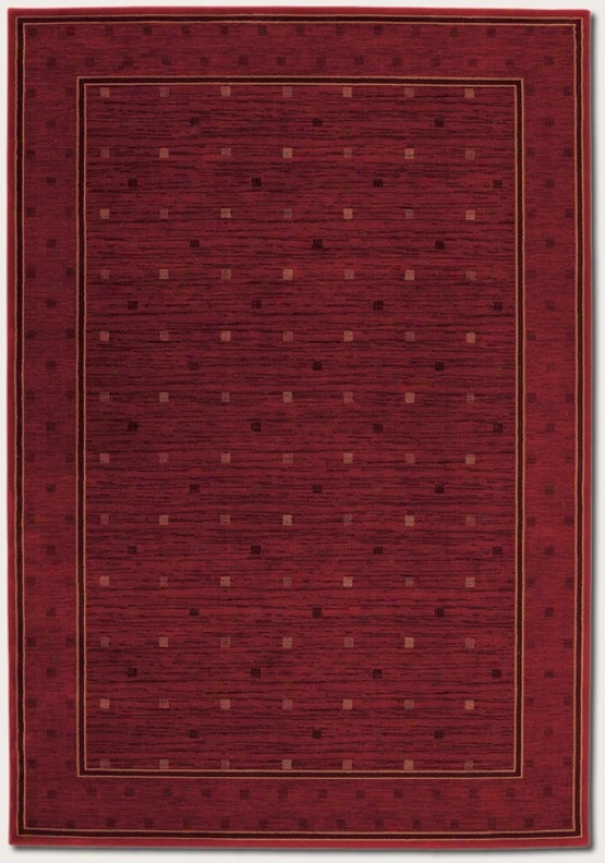 3'11&quot X 5'3&quot Area Rug Squaf Dotted Pattern In Burgundy