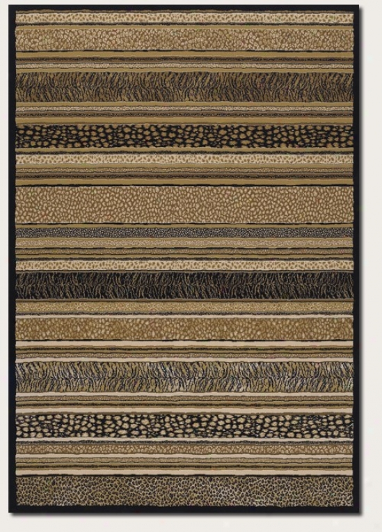 3'11&quot X 5'3&quot Area Rug Striped Animal Print In Earthy Tone