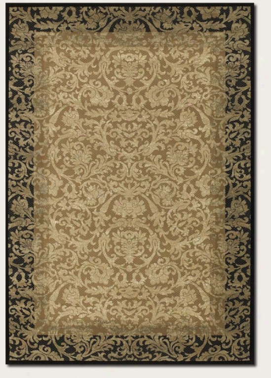 3'11&quot X 5'3&quot Area Rug Tapestry Pattern In Gold And Black