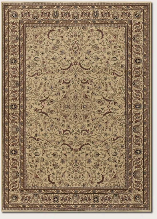 3'11&quot X 5'6&quot Area Rug Persian Floral Patterj In Cream