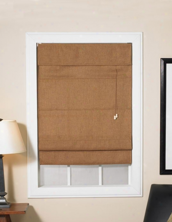 34&quotw Window Treatment Roman Shade In Coffee Bean Color Fabric