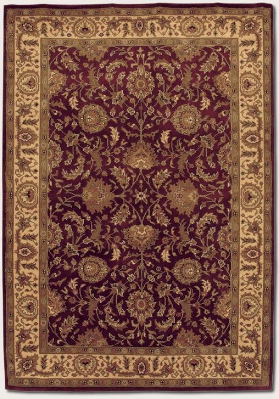 3'6&quot X 5' Area Rug Antique Persian Design In Burgundy