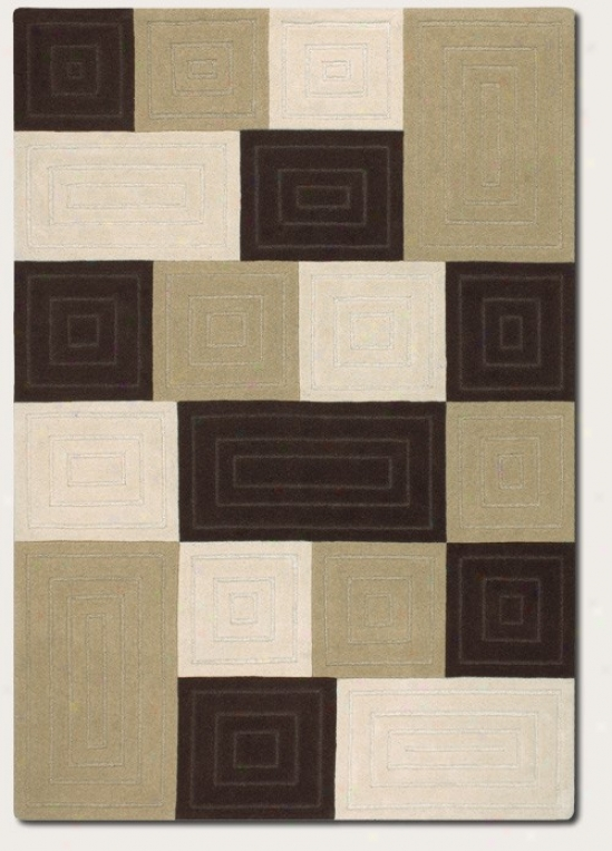 3'6&quot X 5'6&quot Area Rug Contemporary Style In Chocolate And Neutrals