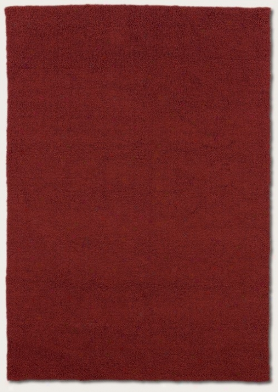 3'6&quot X 5'6&quot Area Rug Contemporary Manner In Red Miso Plea