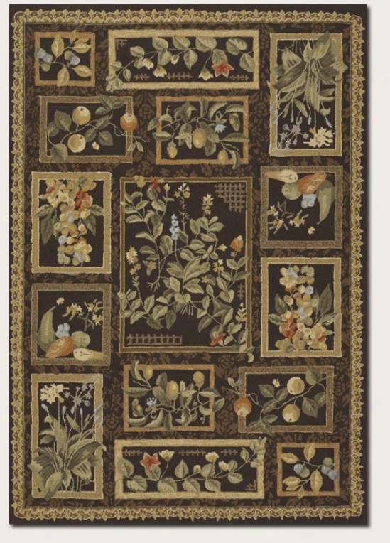 3'6&quot X 5'6&quot Area Rug Floral And Frui tPattern In Brown Color
