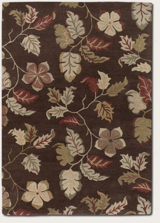 3'6&quot X 5'6&quot Area Rug Hand-crafted Floral Pattern In Mocha