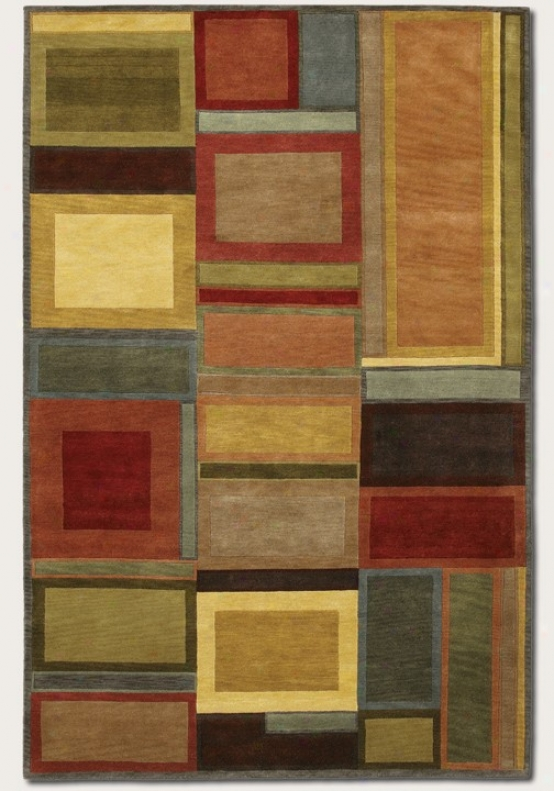 3'6&quot X 5'6&quot Area Rug Hand Knotted Contemporary Style In Multi Color