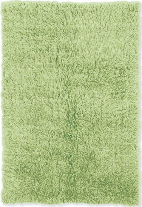 3'6&quot X 5'6&quot Hand Woven Flokati Rug In Lime Green Color