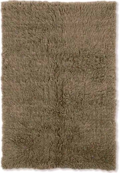 3'6&quot X 5'6&quot New Flokati AreaR ug - 100% Wool Mushroom Color