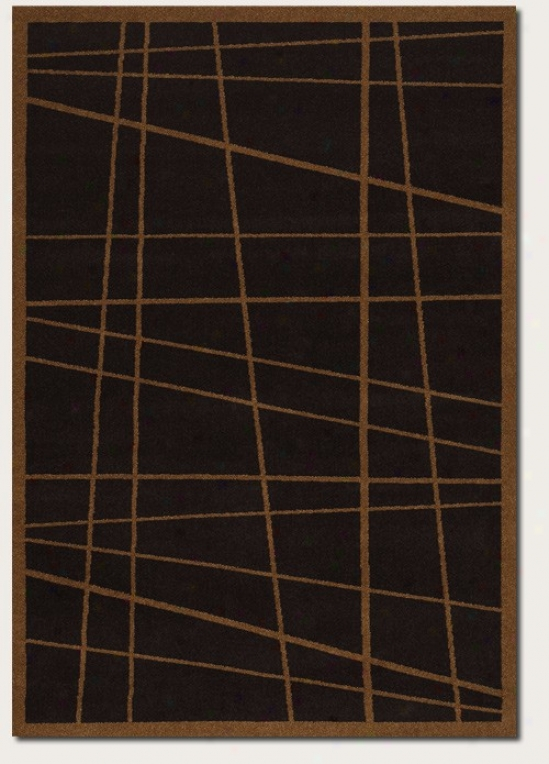 3'9&quot X 5'2&quot Area Rug Contemporary Style In Dark Brown