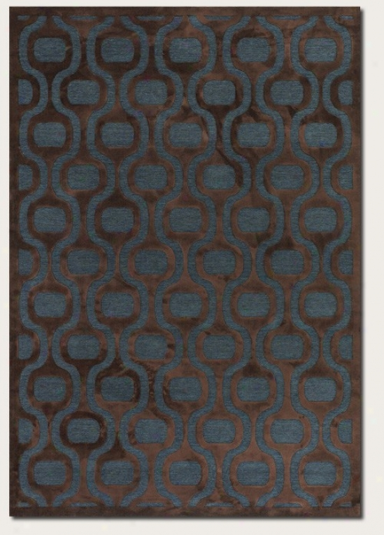 3'9&quot X 5'2&quot Area Rug Geometric Pattern In Chocolate
