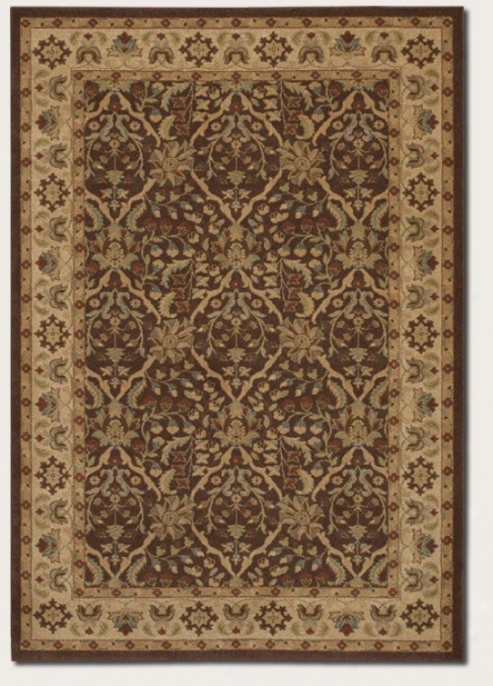 3'9&quot X 5'2&quot Area Rug Persian Pattern In Chocolate