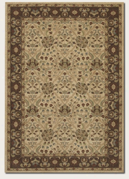 3'9&quot X 5'2&quot Area Rug Persian Pattern In Latte Coior