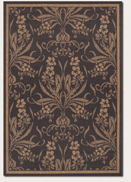 3'9&quot X 5'5&quot Area Rug aTpestry Design In Black Ane Cocoa